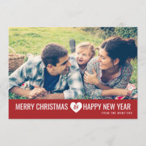 Merry Christmas & Happy New Year Photo Greeting Holiday Card