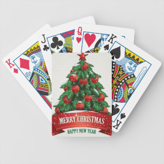 Merry Christmas & happy New year Playing Cards