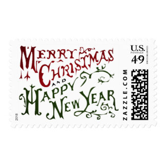 Merry Christmas/ Happy New Year postage