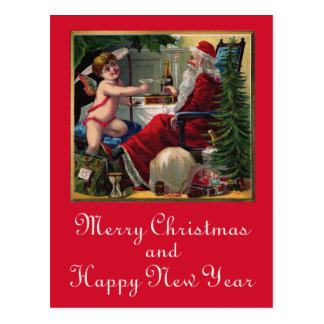 Merry Christmas & Happy New Year Postcard