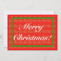Merry Christmas&Happy New Year ~ribbon heart ~ Holiday Card