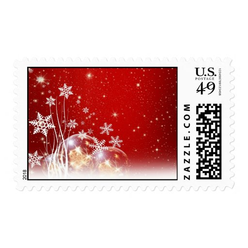 Merry Christmas Happy New Year Season's Greetings Postage Stamp