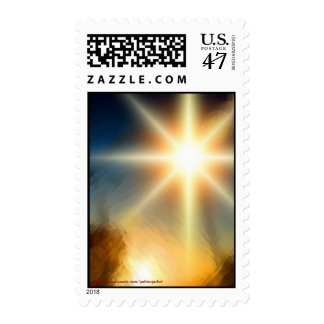 Merry Christmas Happy New Year Season's Greetings Stamp