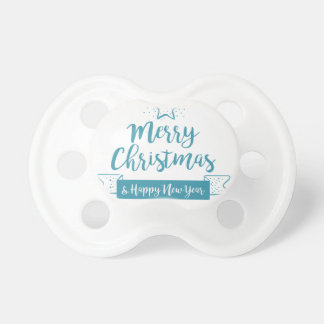 Merry Christmas & Happy New Year Simple Elegant Pacifier