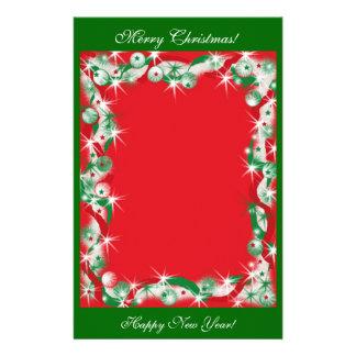 Merry Christmas Happy New Year stationary Custom Stationery