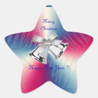 Merry Christmas Happy New Year Sticker!! Star Sticker