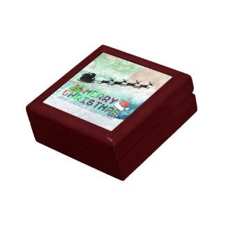Merry Christmas & Happy New Year   Wood Gift Box