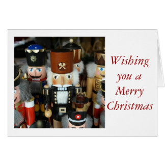Merry Christmas Happy with nut cracker Card