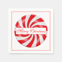 Merry Christmas Hard Candy Design Paper Napkin
