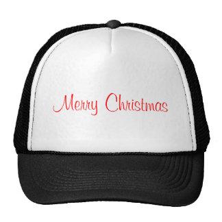 merry christmas mesh hat