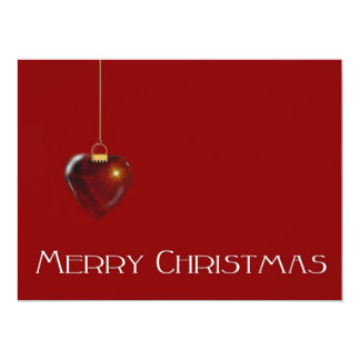 MERRY CHRISTMAS HEART ~ 6.5X8.75 PAPER INVITATION CARD