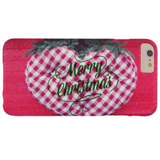 Merry Christmas Heart Barely There iPhone 6 Plus Case