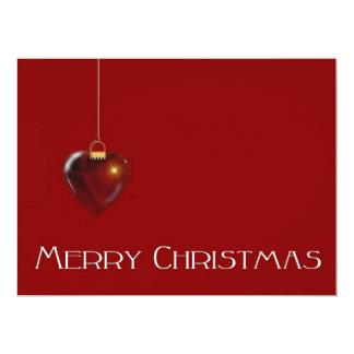 "MERRY CHRISTMAS HEART ~ 6.5"" X 8.75"" INVITATION CARD"