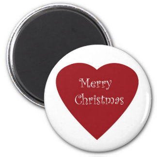Merry christmas heart magnet