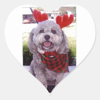 Merry Christmas Heart Sticker