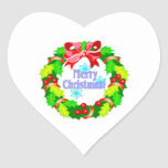 Merry Christmas Heart Stickers
