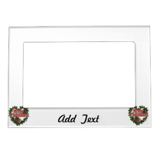 Merry Christmas Heart Wreath Magnetic Frames