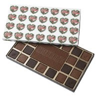 Merry Christmas Heart Wreath 45 Piece Assorted Chocolate Box