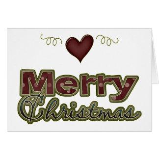 Merry Christmas Heart Yuletide Design Card