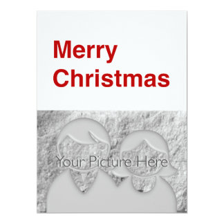 Merry Christmas Helvetica 6.5x8.75 Paper Invitation Card