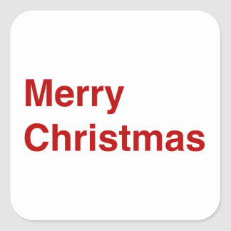 Merry Christmas Helvetica Square Stickers