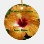Merry Christmas Hibiscus Ornaments