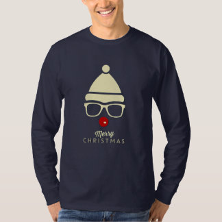 Merry Christmas Hipster Rudolph Men's T-shirt