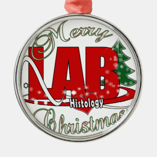 MERRY CHRISTMAS HISTOLOGY METAL ORNAMENT