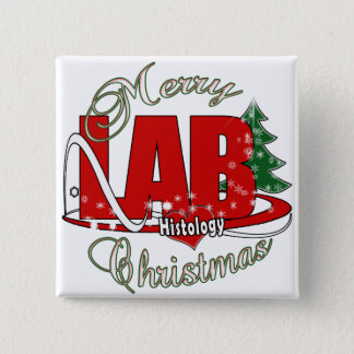 MERRY CHRISTMAS HISTOLOGY PINBACK BUTTON
