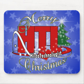 MERRY CHRISTMAS HISTOTECHNOLOGIST MOUSE PAD
