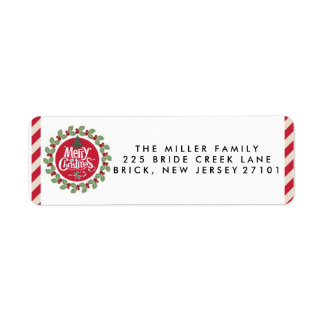 Merry Christmas Holiday Address Labels