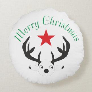 Merry Christmas  Holiday celebrations Santa Christ Round Pillow