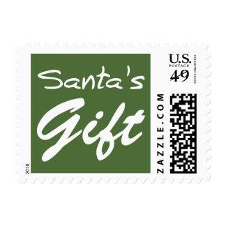 Merry Christmas  Holiday celebrations Santa Christ Postage Stamp