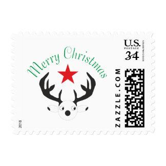 Merry Christmas  Holiday celebrations Santa Christ Postage