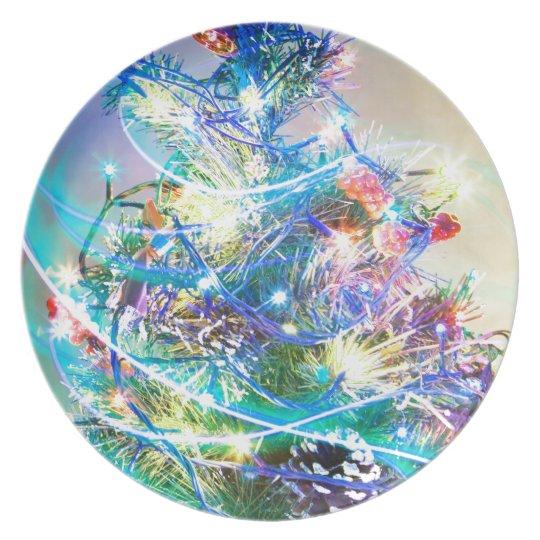 Merry Christmas  Holiday celebrations Santa Clause Melamine Plate