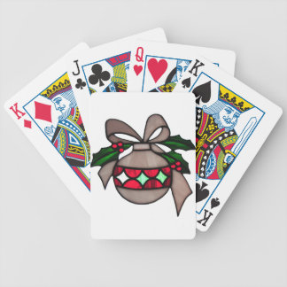 Merry Christmas  Holiday celebrations Santa Clause Bicycle Card Deck