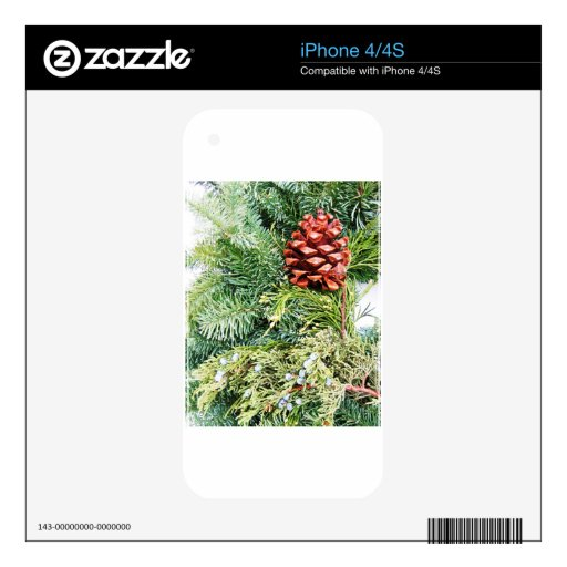 Merry Christmas  Holiday celebrations Santa Clause Skin For The iPhone 4