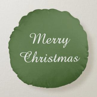 Merry Christmas  Holiday celebrations Santa Round Pillow