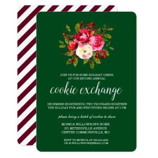 Merry Christmas | Holiday Cookie Exchange Card