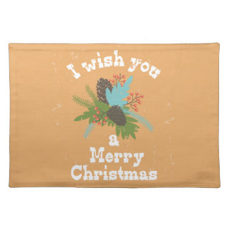 Merry Christmas Holiday Decor Cloth Placemat