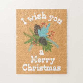Merry Christmas Holiday Decor Jigsaw Puzzle