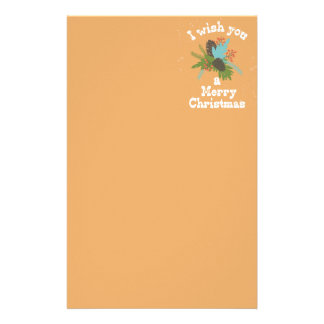 Merry Christmas Holiday Decor Stationery