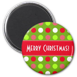 Merry Christmas Holiday Dots Mix Magnet