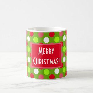 Merry Christmas Holiday Dots Mix Mug