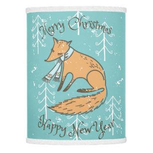 Merry christmas holiday lamp shades zazzle merry christmas holiday fox cozy lamp shade aloadofball Choice Image