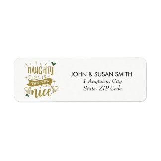 Merry Christmas holiday fun return address labels
