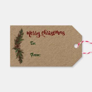 Merry Christmas Holiday Gift Tag