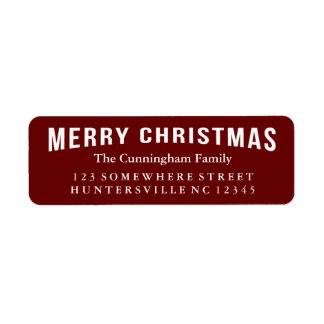 Merry Christmas Holiday Greeting Label