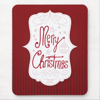 Merry Christmas Holiday Greeting Mouse Pad