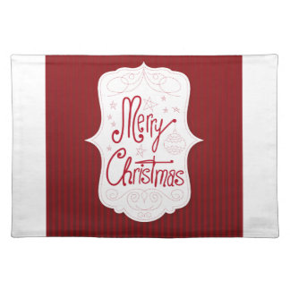 Merry Christmas Holiday Greeting Place Mats